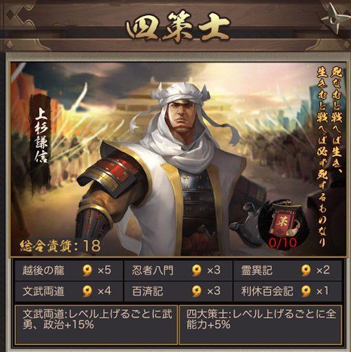 ナリセン(成り上がり華と武の戦国)四策士と五剣豪のキャラや入手方法!